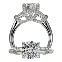 Ritani Modern Crossover Micropave Design Diamond Ring