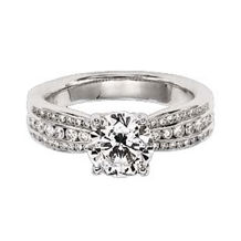 Ritani Modern Triple Row Diamond Engagement Ring