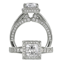 Ritani Modern Princess Cut Diamond Engagement Ring