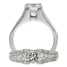 Ritani Modern Princess Cut Diamond Ring