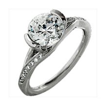 Ritani Modern Brilliant Cut Diamond Engagement Ring