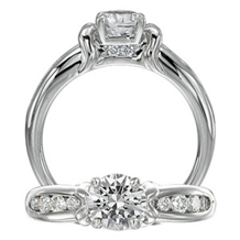 Ritani Modern Round Diamond Engagement Ring