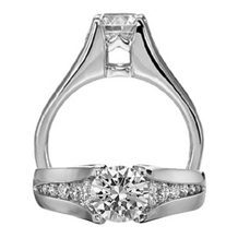 Ritani Modern Royal Crown Diamond Engagement Ring