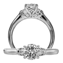 Ritani Modern Royal Crown Design Engagement Ring