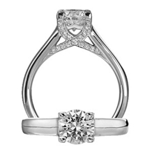 Ritani Modern Royal Crown Design Diamond Ring
