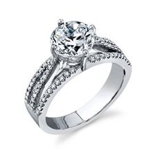 Simon G Brilliant Diamond Engagement Ring