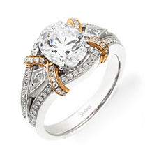 Simon G Oval Diamond Engagement Ring