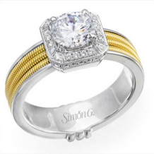 Simon G Round Diamond Engagement Ring
