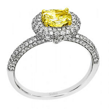 Simon G Yellow Pear Diamond Ring