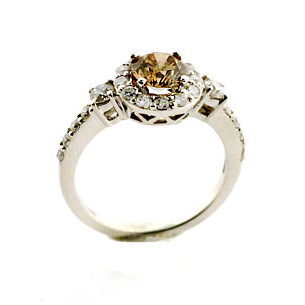 Beautiful Brown Diamond Engagement Ring