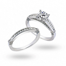 Exquisite Simon G Diamond Bridal Set