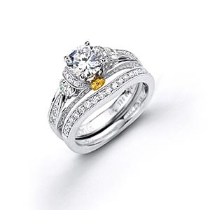 Elegant Simon G Diamond Bridal Set