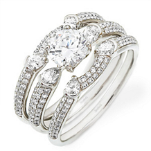Dazzling Three Band Diamond Bridal Set by Simon G