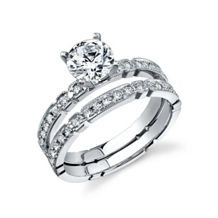 Dazzling Simon G Diamond Bridal Set
