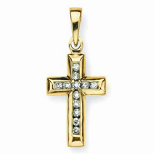 Beautiful Gold and Diamond Cross