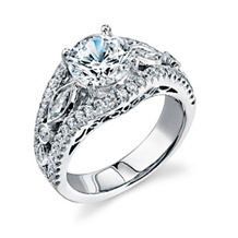 Elegant Simon G Diamond Engagement Ring