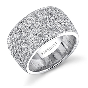 Spectacular Diamond Wedding Band by Stardust