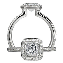 Ritani Endless Love Asscher Cut Diamond Engagement Ring