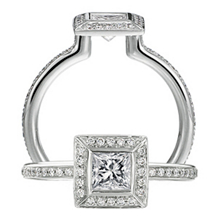 Ritani Endless Love Princess Cut Diamond Ring