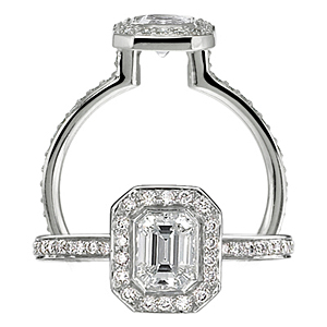 Ritani Endless Love Emerald Cut Diamond Ring