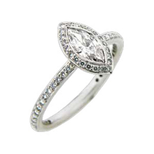 Ritani Endless Love Marquise Diamond Engagement Ring