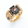 Striking Masonic Ring York Rite in 10K Gold