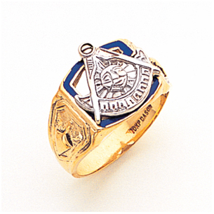 Wonderful 10K Past Master Masonic Ring