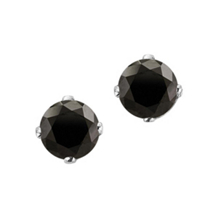 Black Diamond Stud Earrings 1/2 Carat