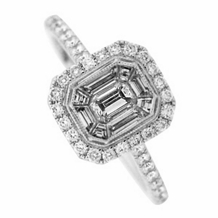 Fancy Asscher Cut Mosaic Diamond Ring