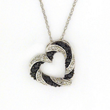 Alluring 1/4 Carat Black Diamond Heart Pendant