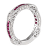 Lovely Ruby and Diamond Band
