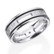 Stunning Diamond Mens Wedding Band