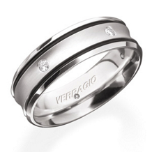 Stylish Diamond Mens Wedding Band