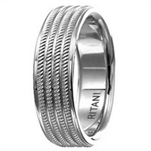 Handsome 7mm Mens Wedding Band by Ritani