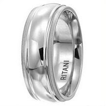 Classic Ritani Mens Wedding Band