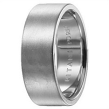 Stylish 8mm Mens Wedding Band by Ritani