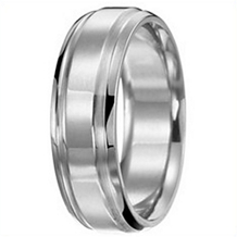 Ritani Classic 8mm Mens Wedding Band