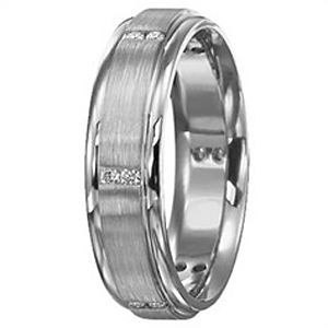 Classic Mens Diamond Band 6mm by Ritani