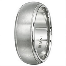Ritani Classic Mens Wedding Band 8mm