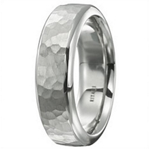 Mens Hammered Finish Wedding Band by Ritani
