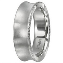 Classic Coin Edge Mens Wedding Band by Ritani.