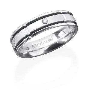 Classic Verragio Mens Diamond Wedding Band