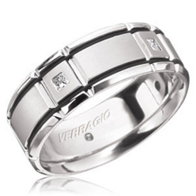 Verragio Mens Princess Cut Diamond Wedding Band