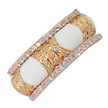 Exquisite Rose Gold Band by Hidalgo