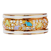 Playful Pastel Fish and Diamond Band by Hidalgo