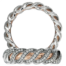 Gorgeous Rose Gold Anadare Collection Eternity Band