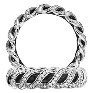 Anadare Collection Diamond and Black Eternity Band
