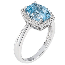 Breathtaking Blue Topaz Diamond Ring