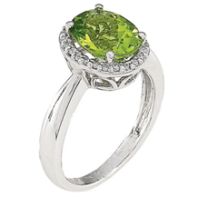 Marvelous Peridot Diamond Ring