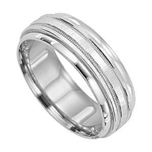 Gorgeous 7mm Wide Mens Wedding Band by Lieberfarb